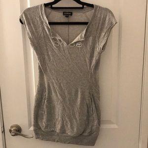 Grey Tee Shirt Dress